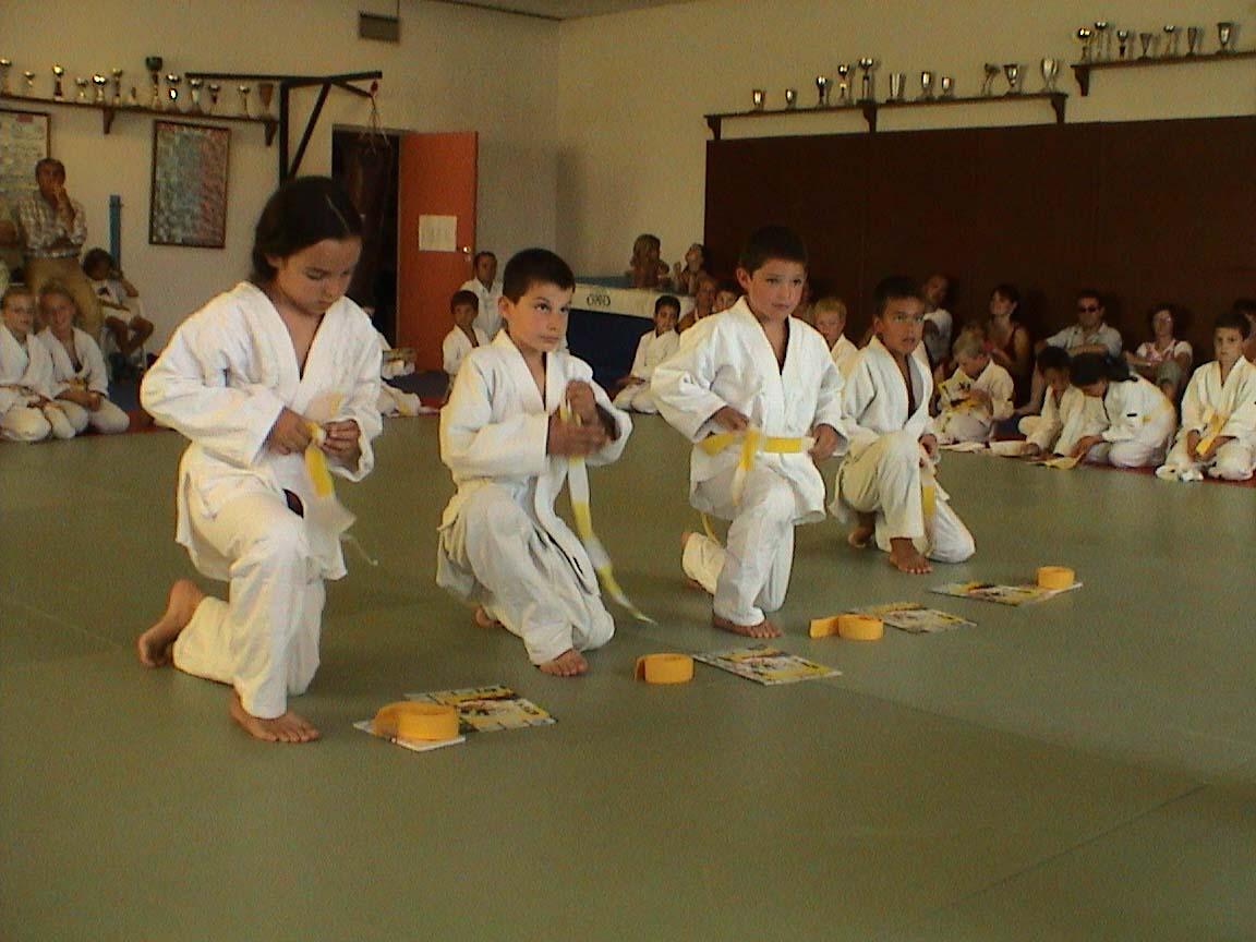 ceinture noire judo brodée